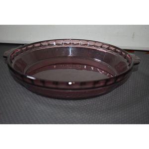 Vintage PYREX Purple Amethyst Glass Pie 229 Deep